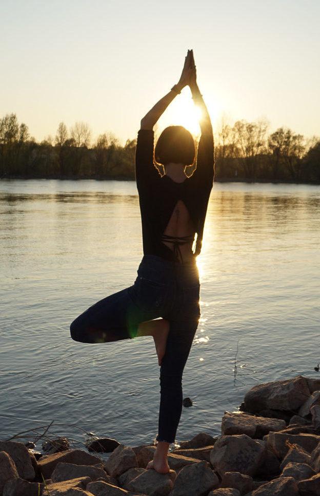 Yoga Tree Pose Mainz Rhein Vrksasana